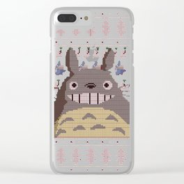 Christmas Studio Ghibli Knit Clear iPhone Case