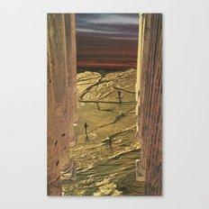 Golden Pillars 1 Canvas Print