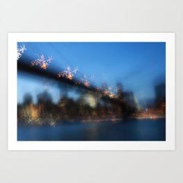 NYC skyline at Blue Hour Art Print