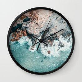 Ocean Print, Ocean Art, Printable Art, Waves Print, Ocean Rocks, Aerial Photography, Coastal Ocean Printable Wall Art Wall Clock