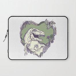 T-Rex Heart - Green & Purple Laptop Sleeve