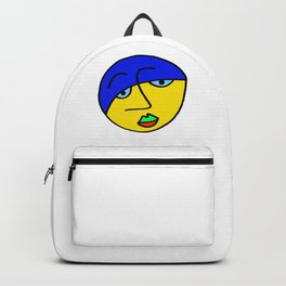 Colored Sad Man's Face Backpack