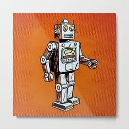 Retro Robot Toy Metal Print