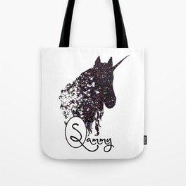 Personalized Unicorn Initial Monogram Tote Bag Tote Bag