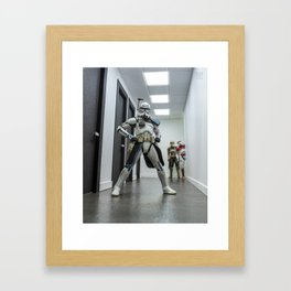 Rexin Power Stance Framed Art Print