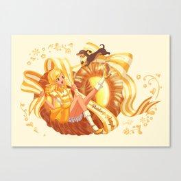Scandi Sweets - Pudding Pretzel Canvas Print