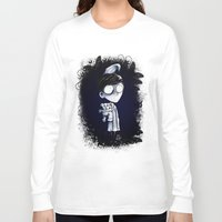 bed Long Sleeve T-shirts featuring Bed Time by artlandofme