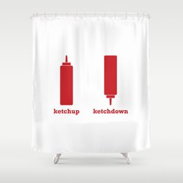 Ketchup-Ketchdown Shower Curtain