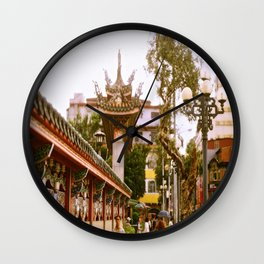 MengjiaLongshan-Temple - Streets of Taipei Wall Clock