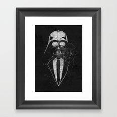 Darth Vader Gentleman Framed Art Print