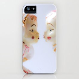 Kissing Boy and Girl- Vintage Figures iPhone Case
