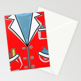 Lab coat smock chemist lab technician Stationery Cards