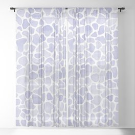 Watercolor 6 Sheer Curtain