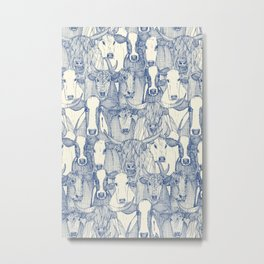 just cattle classic blue pearl Metal Print