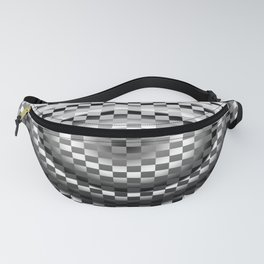 Black and white chessboard Fanny Pack