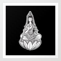 Chinese god. Beautiful goddess. Peace. Beauty concept. Meditation. Healing concept. Chinese medicine Art Print
