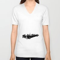 jfk V-neck T-shirts featuring RIP JFK by chipscompany