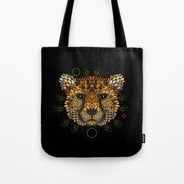 Cheetah Face Tote Bag