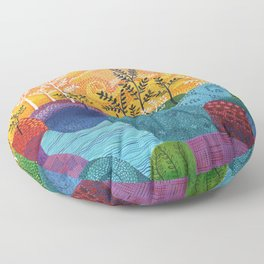 on and on fields Floor Pillow
