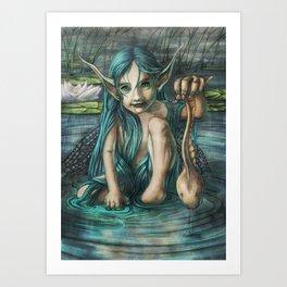 The Naiad's Catch Art Print