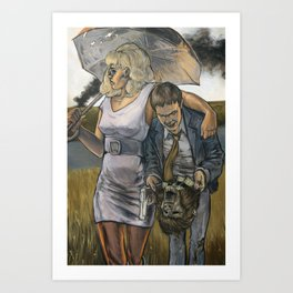 Bonnie & Clyde on the Other Side Art Print