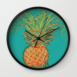 Pineapple Party-Abstract Illustration Wall Clock