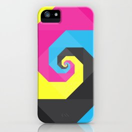 CMYK triangle spiral iPhone Case