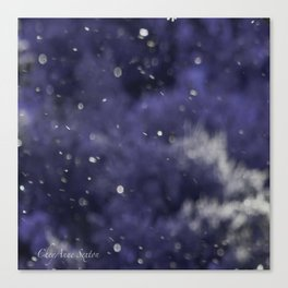 Holidaze Purple with SnowFlakes by CheyAnne Sexton Canvas Print