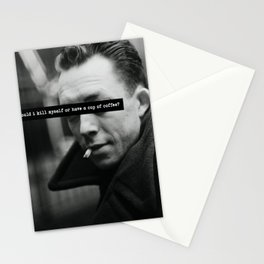 """Should I Kill Myself or Have a Cup of Coffee?"" Albert Camus Quote Stationery Cards"