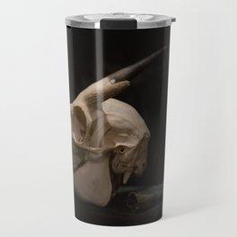 White Tail Deer Skull Travel Mug