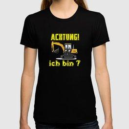 Achtung! Ich bin 7 Geburtstag baufahrzeuge bagger, T-shirt