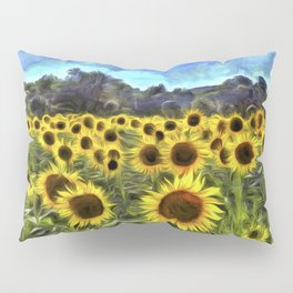 Sunflower Fields Of Summer  Van Goth Pillow Sham