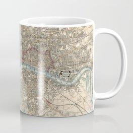 Vintage London Map - 1853 Coffee Mug
