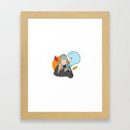 Fall Girl Framed Art Print