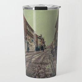 Rochester High Street in Snow Travel Mug