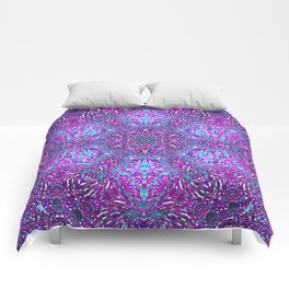 Pink, Purple, and Blue Mandala Comforters