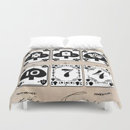 patent Playing cards 1877 Saladee Duvet Cover