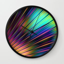 Psychedelic Stripes Pattern Wall Clock