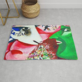 Marc Chagall Me and the Village Rug
