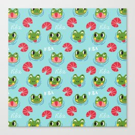 Have a froggy day! Canvas Print