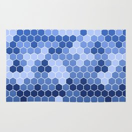 Honeycomb Blue Pattern | Geometric Shapes | Home Decor | Sapphire | For Him | For Her Rug