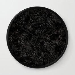 Black Silk Moire Pattern Wall Clock