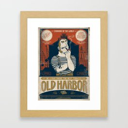 Classic Posters. Old Harbor Framed Art Print