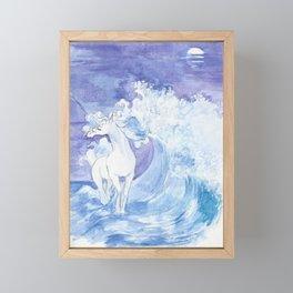 An Ocean Unicorn Framed Mini Art Print