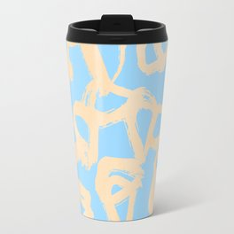 Sweet Life Triangle Dots Orange Sherbet + Blue Raspberry Travel Mug