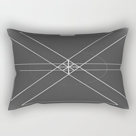 Gray Lines and Crossings Rectangular Pillow