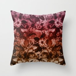 Beautiful spring flower garden in purple, wild plants illustration Throw Pillow