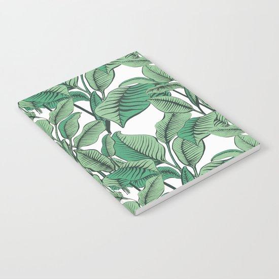 Exotic Tropical Banana Palm Leaf Print Notebook