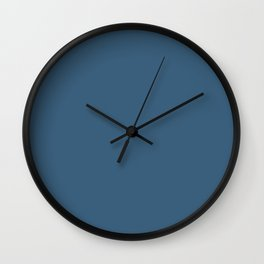Deep Ocean Blue Inspired by PPG Glidden 2020 Color of the Year Chinese Porcelain Wall Clock
