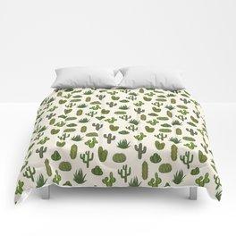 Cacti parade Comforters